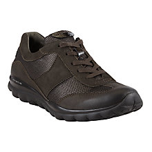 Buy Gabor Helen Extra Wide Fitting Trainers, Black Nubuck Online at johnlewis.com