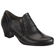 Buy Gabor Cruiser Wide Fit Leather Shoes, Black Online at johnlewis.com