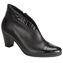 Buy Gabor Enfield Leather Heeled Ankle Boots Online at johnlewis.com