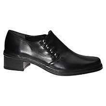 Buy Gabor Hertha Leather Loafers, Black Online at johnlewis.com