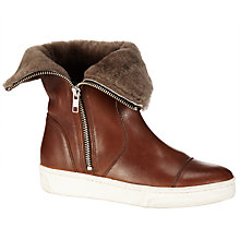Buy Kin by John Lewis Reija Leather Calf Boots, Brown Online at johnlewis.com