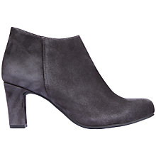 Buy Unisa Oclair Block Heel Ankle Boot, Grey Online at johnlewis.com