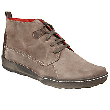 Buy John Lewis Designed for Comfort Yule Lace Up Suede Ankle Boots, Brown Online at johnlewis.com