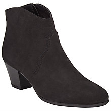 Buy John Lewis Designed for Comfort Crow Suede Ankle Boots, Black Online at johnlewis.com
