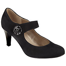 Buy Gabor Approach Mid Heeled Mary Jane Courts, Black Suede Online at johnlewis.com