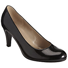 Buy Gabor Lavender Patent Court Shoes, Black Online at johnlewis.com