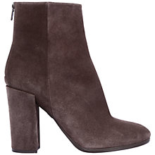 Buy Unisa Llapa Block Heel High Ankle Boot, Brown Suede Online at johnlewis.com
