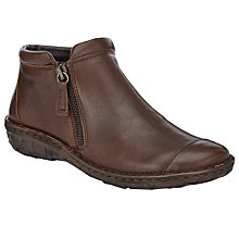 Buy John Lewis Designed for Comfort Yale Double Zip Leather Ankle Boots Online at johnlewis.com