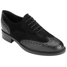 Buy John Lewis Freya Leather Brogues, Black Nubuck Online at johnlewis.com
