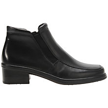 Buy Gabor Confess Leather Ankle Boots, Black Online at johnlewis.com