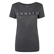 Buy Manuka Short Sleeve Breathe Yoga T-Shirt, Stone Online at johnlewis.com