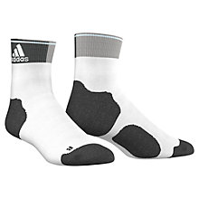 Buy Adidas Running Energy Thin Cushioned Ankle Socks, White/Black Online at johnlewis.com