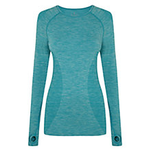 Buy Manuka Short Sleeve Seamless Top, Aqua Online at johnlewis.com