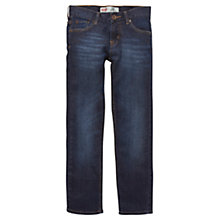 Buy Levi's Boys' 504 Regular Fit Dark Wash Jeans, Denim Online at johnlewis.com
