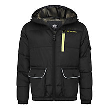 Buy Animal Boys' Murren Puffer Jacket, Black Online at johnlewis.com