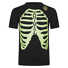 Buy Animal Boys' Skelly Glow In Dark Ribs T-Shirt, Black Online at johnlewis.com