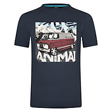 Buy Animal Boys' Travels Camper Van T-Shirt, Indigo Online at johnlewis.com