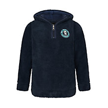 Buy Animal Boys' Sulley Half Zip Hooded Fleece, Indigo Online at johnlewis.com