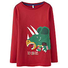 Buy Little Joule Boys' Jack Rugby Rhino Long Sleeve Jersey, Red Online at johnlewis.com