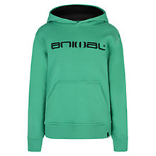 Buy Animal Boys' Free Ride Logo Hoodie, Green Online at johnlewis.com