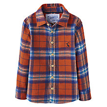 Buy Little Joule Boys' Hamish Check Shirt, Orange/Blue Online at johnlewis.com