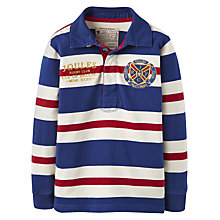 Buy Little Joule Boys Winner Union Stripe Rugby Top, Navy Online at johnlewis.com