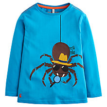 Buy Little Joule Boys' Long Sleeve Spider Jersey, Azure Blue Online at johnlewis.com