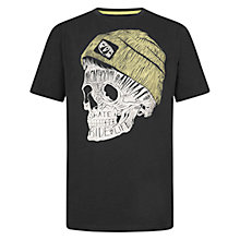 Buy Animal Boys' Skulley Graphic Print T-Shirt, Black Online at johnlewis.com