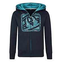 Buy Animal Boys' Wander Logo Zip Through Hoodie, Indigo Online at johnlewis.com