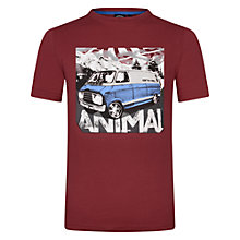 Buy Animal Boys' Travels Camper Van T-Shirt, Red Online at johnlewis.com