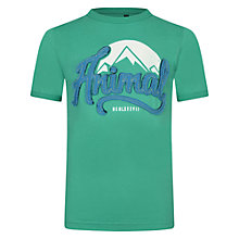 Buy Animal Boys' Lowdown Three Peaks Logo T-Shirt, Emerald Online at johnlewis.com