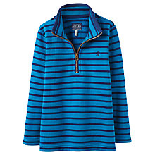 Buy Little Joule Junior Dale Half Zip Top, Azure Blue Online at johnlewis.com