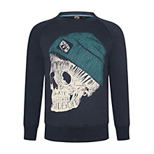 Buy Animal Boys' Cullem Skull Print Sweatshirt, Indigo Online at johnlewis.com