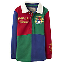 Buy Little Joule Boys' Quarter Rugby Shirt, Navy/Red/Green Online at johnlewis.com