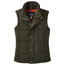 Buy Little Joule Boys' Burt Padded Gilet, Everglade Green Online at johnlewis.com