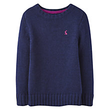 Buy Little Joule Boys' Wallace Cable Knit Jumper, Navy Online at johnlewis.com