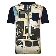 Buy Animal Boys' Hunted Van Print T-Shirt, Indigo Online at johnlewis.com