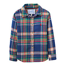 Buy Little Joule Boys' Hamish Tartan Shirt, Navy Online at johnlewis.com