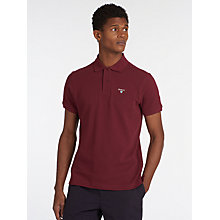 Buy Barbour Tartan Pique Polo Shirt, Ruby Online at johnlewis.com