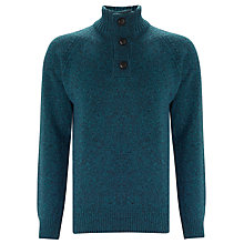 Buy Barbour Essential Chunky Half Button Jumper Online at johnlewis.com