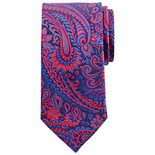 Buy John Lewis Party Bold Paisley Silk Tie, Red/Blue Online at johnlewis.com