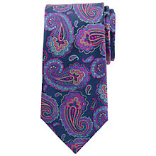 Buy John Lewis Party Paisley Satin Silk Tie, Multi Online at johnlewis.com