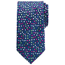 Buy John Lewis Party Multi Dot Silk Tie, Navy Online at johnlewis.com