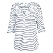 Buy Fat Face Mollie Stripe Popover Blouse, Ivory Online at johnlewis.com