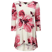 Buy Phase Eight Ellie Floral Print Top, Pink/White Online at johnlewis.com