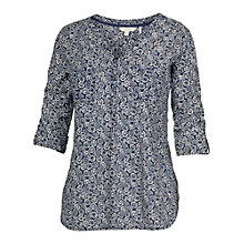 Buy Fat Face Mollie Forest Popover Blouse, Navy Online at johnlewis.com