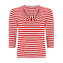 Buy Phase Eight Carrie Stripe Top, Red/White Online at johnlewis.com