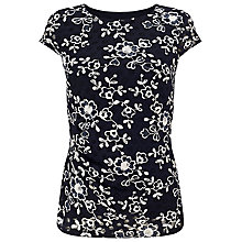 Buy Phase Eight Lotty Lace Top, Navy/Ivory Online at johnlewis.com