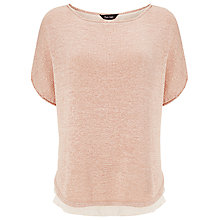 Buy Phase Eight Tape Yarn Macey Knit Top, Salmon Pink Online at johnlewis.com