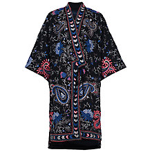 Buy French Connection Micheala Embroidered Kimono, Black/Multi Online at johnlewis.com